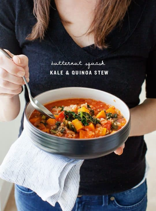 Butternut Squash Kale & Quinoa Stew