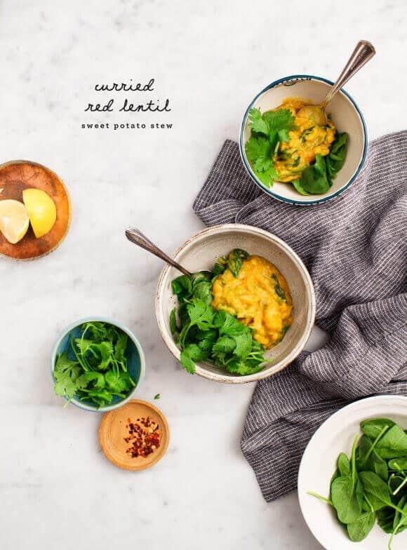 Red Lentil Sweet Potato Stew