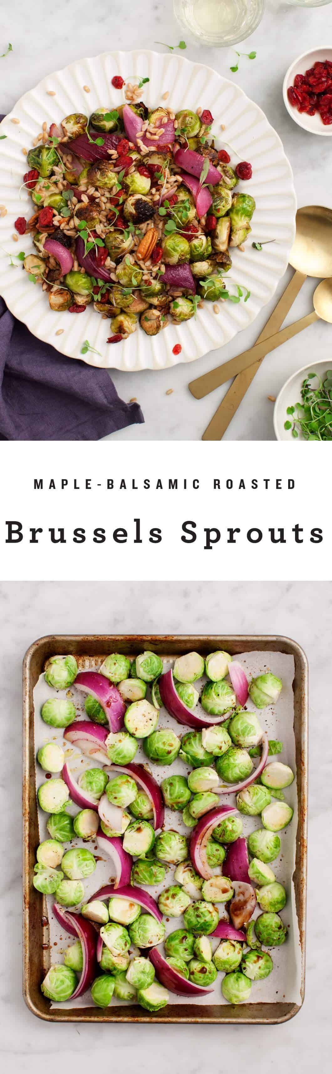 Maple-Balsamic Roasted Brussels Sprouts