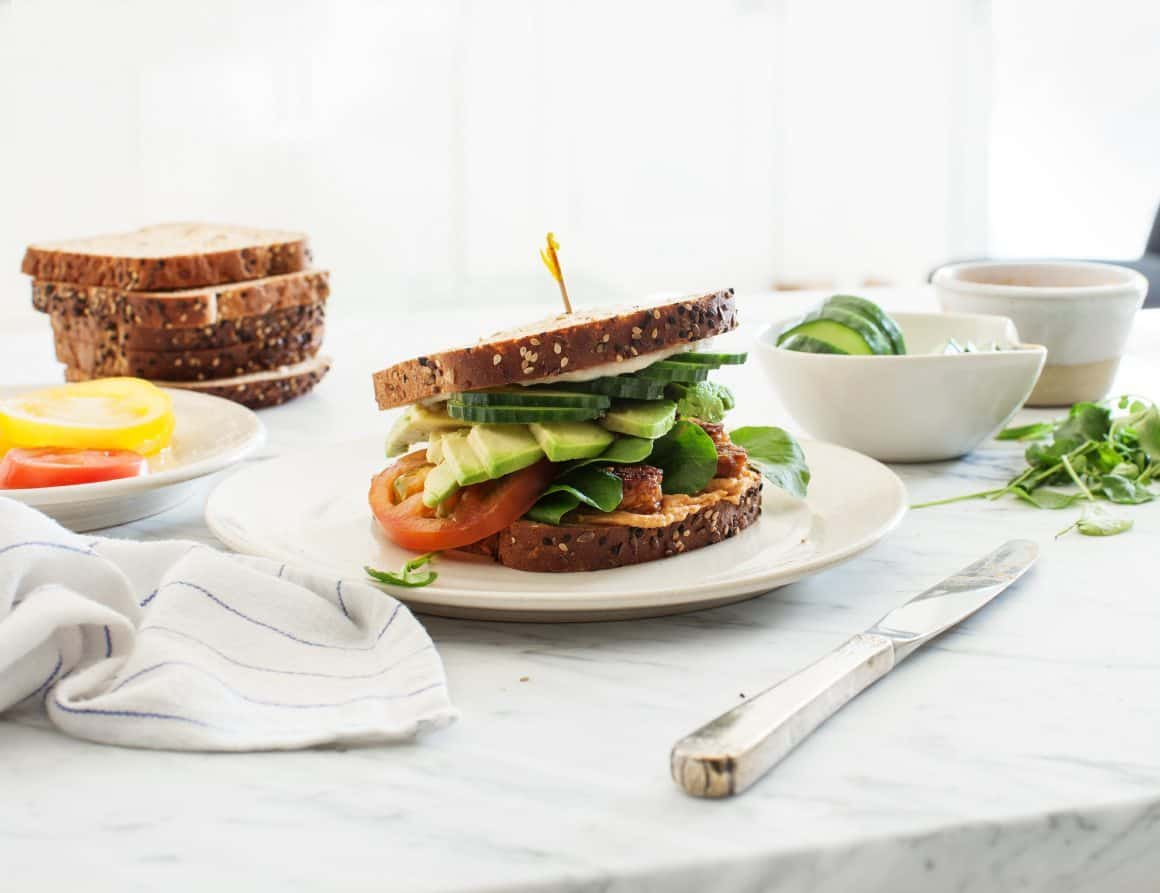 Tempeh Vegan Club Sandwiches