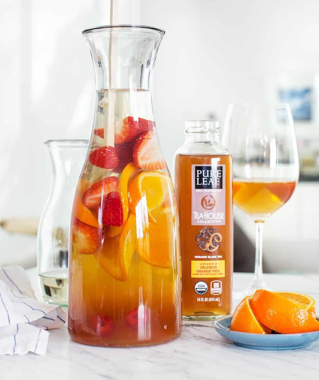 Orange Peel Black Tea Sangria