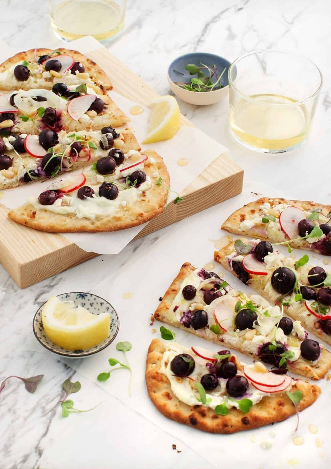 Blueberry Fennel Flatbread w/ Whipped Feta