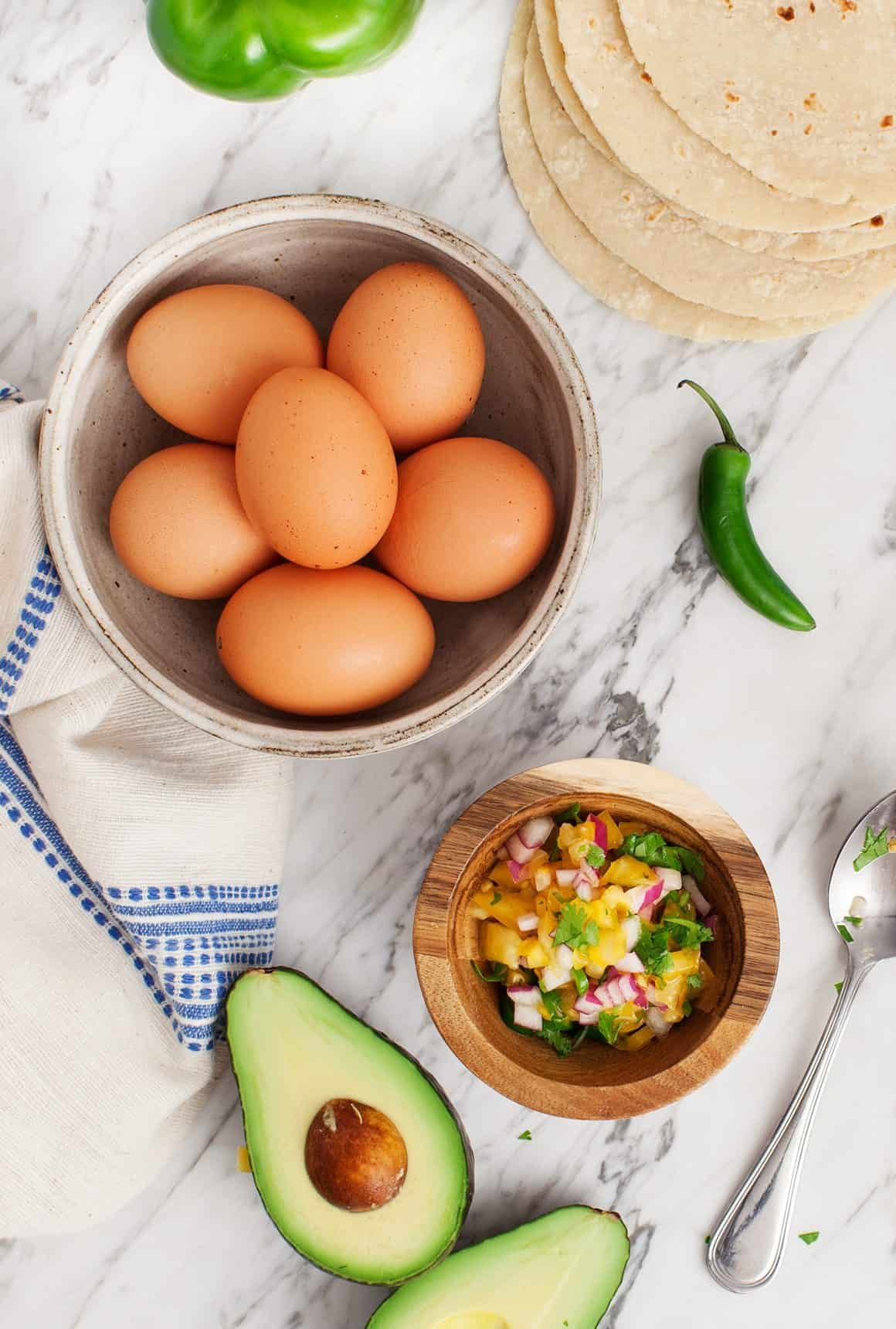 Healthy Green Breakfast Tacos