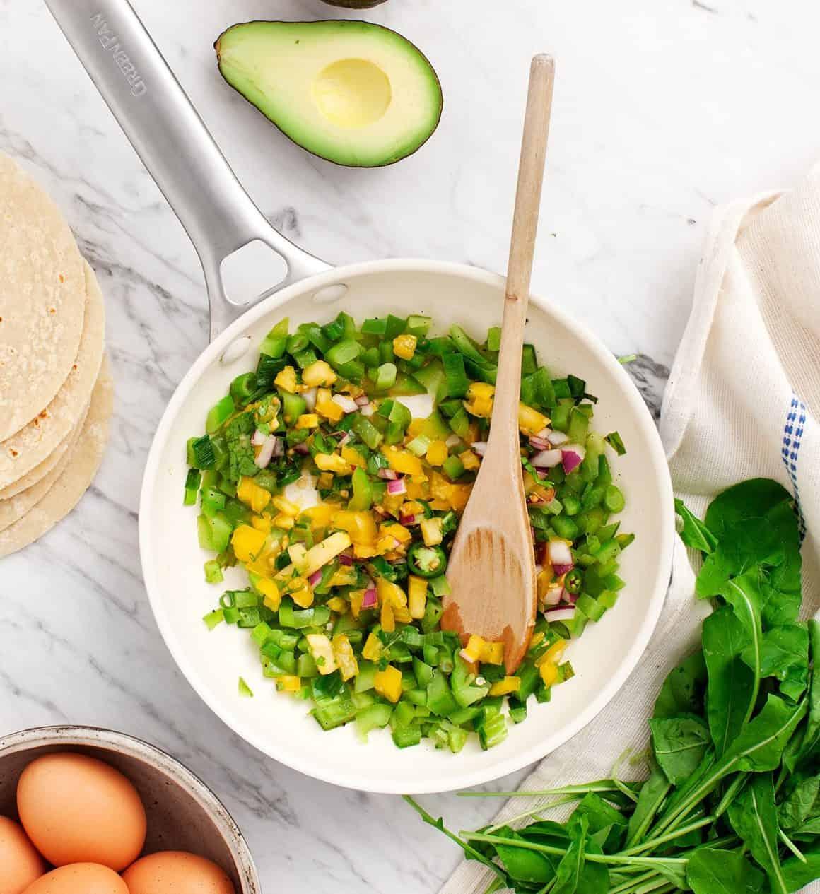 Healthy Green Breakfast Tacos