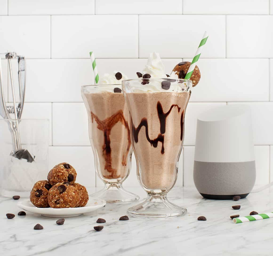 Vegan PB Cookie Dough Milkshakes