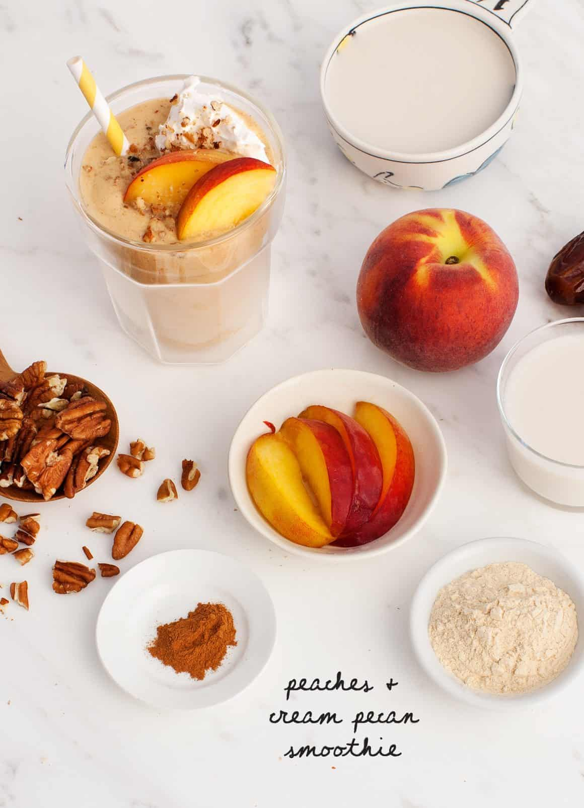 Peaches & Cream Pecan Smoothie