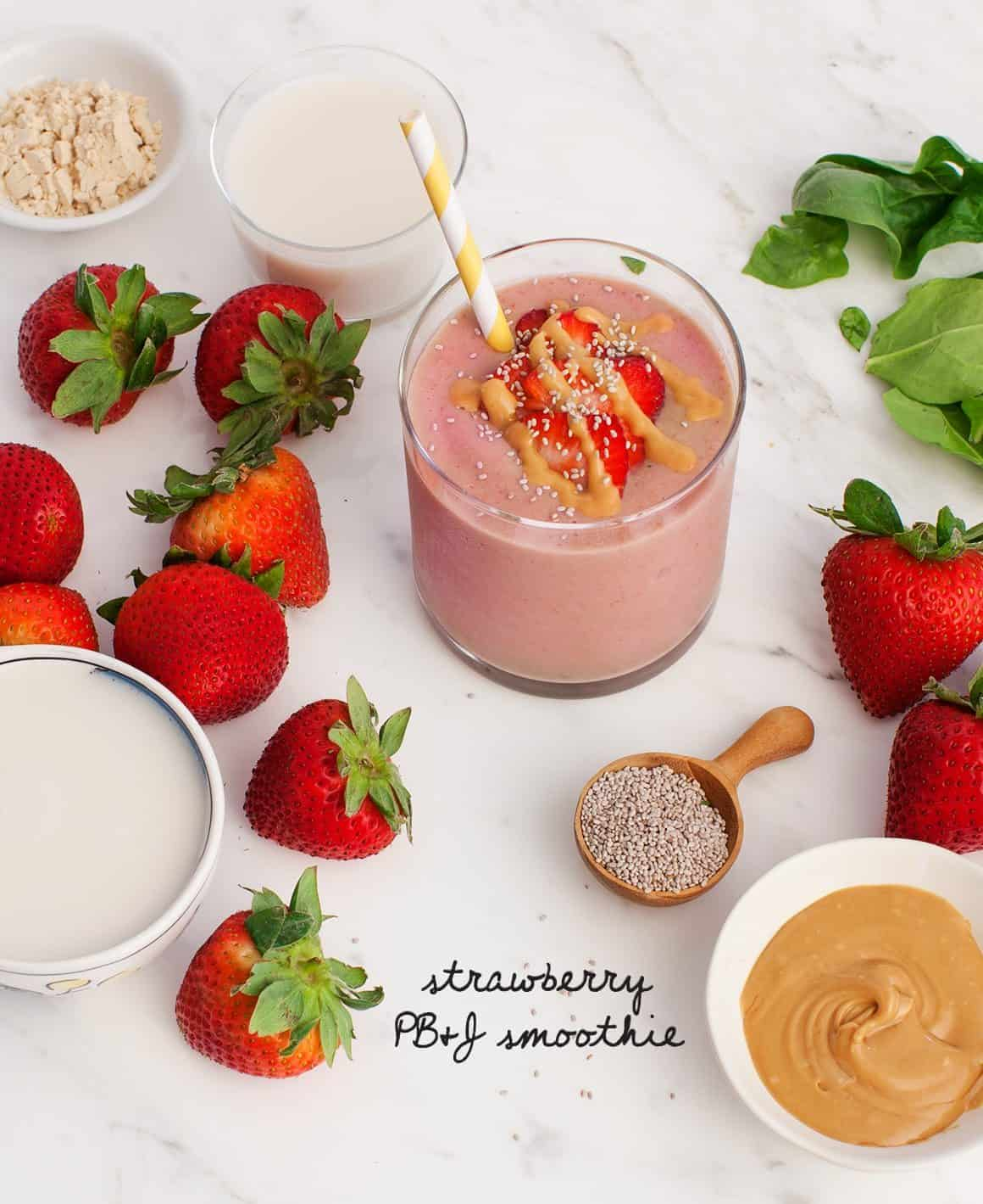 Strawberry PB&J Smoothie