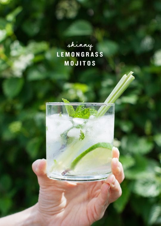 Skinny Lemongrass Mojitos
