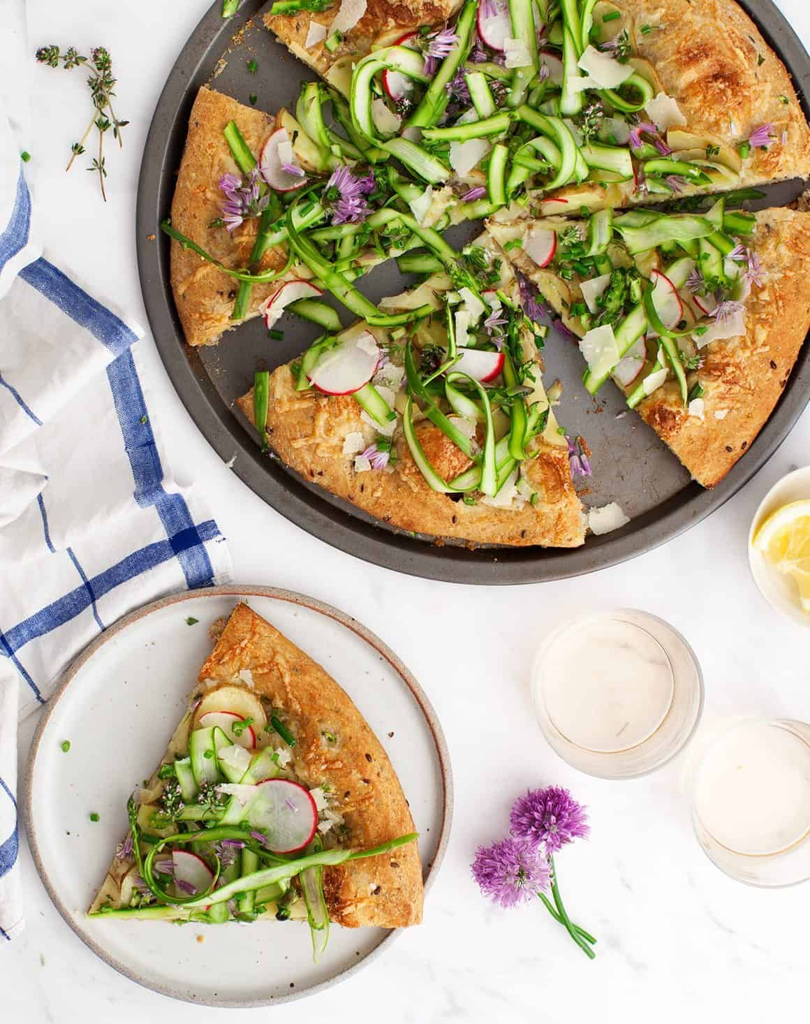 Farmers Market Asparagus & Potato Pizza