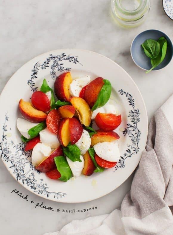 Peach & Plum Caprese Salad