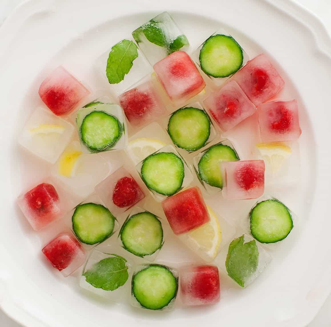 Iced Tea with Fancy Herbal & Fruity Ice