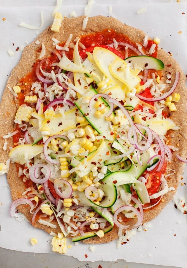 Summer Squash Vegetable Pizza