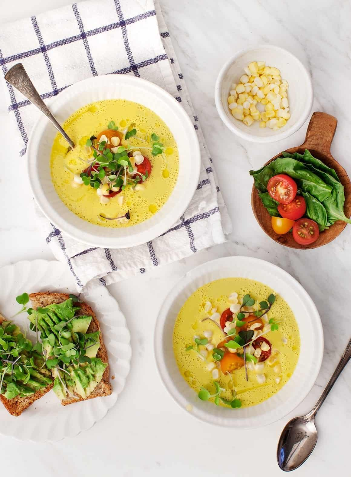 sweet corn gazpacho recipe love and lemons
