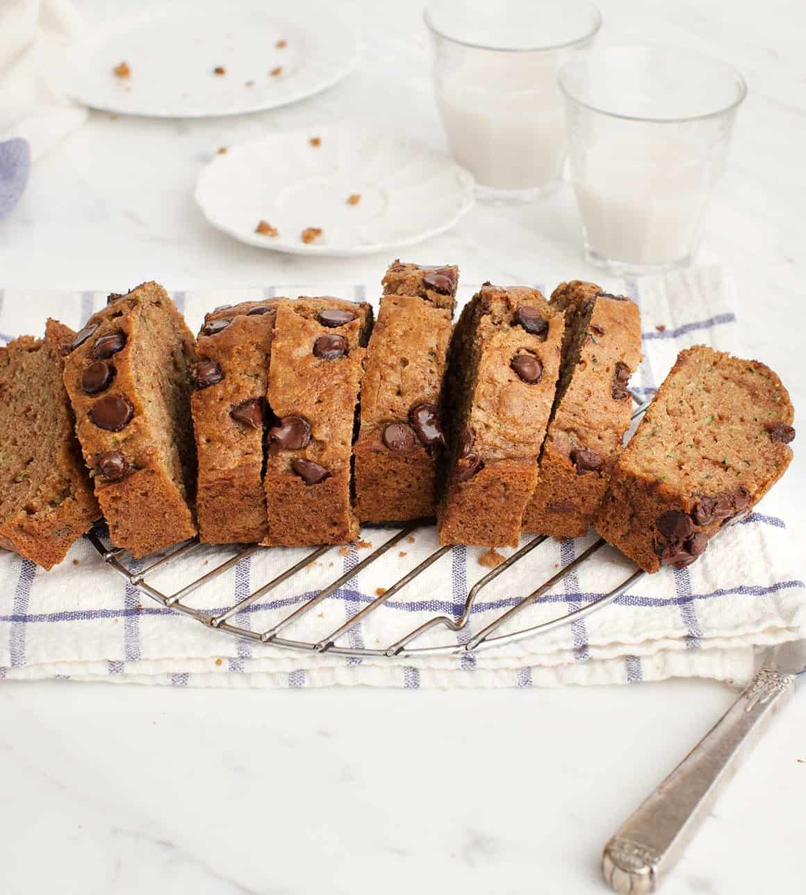 Almond Chocolate Chip Zucchini Bread