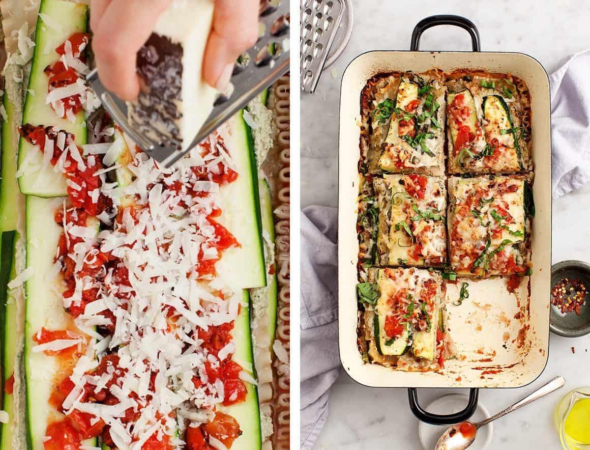 """Zucchini Lasagna with Zucchini """"Ricotta"""""""