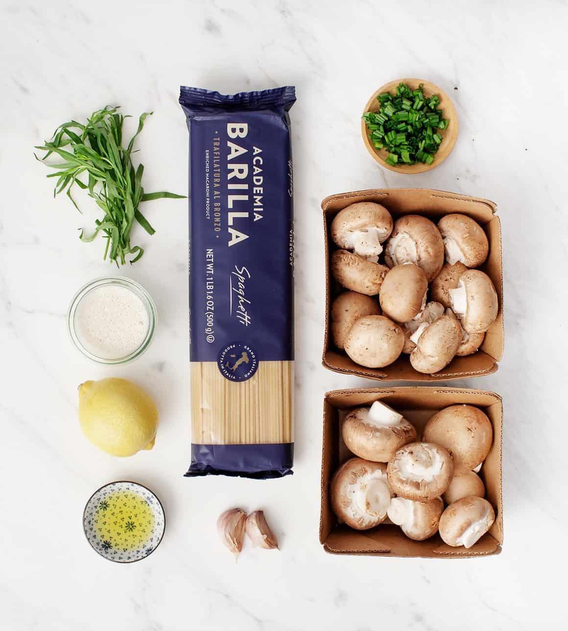 Herb & Garlic Mushroom Pasta