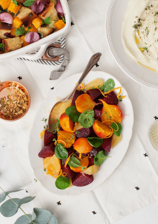 Simple Roasted Beets with Citrus