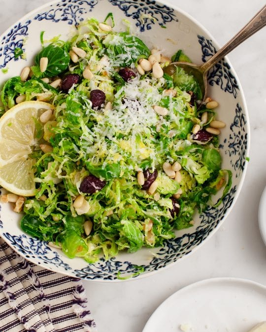 Shredded Brussels Sprout & Cranberry Salad