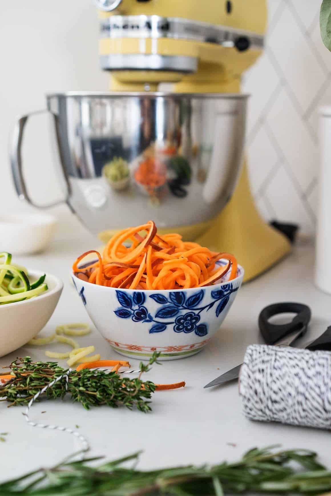 Zucchini & Sweet Potato Noodle Minestrone